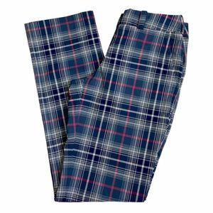 Nike Golf DriFit Pants Plaid Gray And Pink Size 2